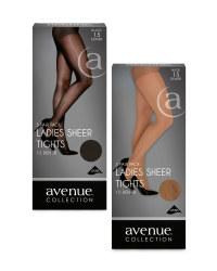 Ladies' Sheer Tights 5-Pack