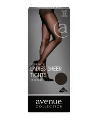Ladies' Sheer Tights 5-Pack - Black