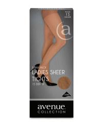 Ladies' Sheer Tights 5-Pack - Nude