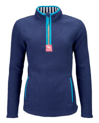Ladies' Sherpa Fleece - Navy