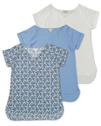 Ladies' Short Sleeve V-Neck Top