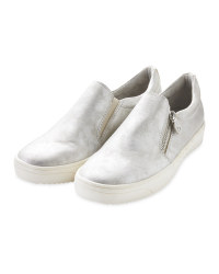Ladies' Silver Comfort Slip On Shoes