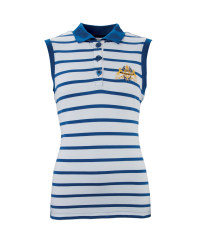 Ladies' Sleeveless Navy Polo Shirt