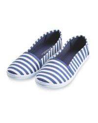 Ladies' Stripe Canvas Pumps