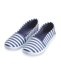 Ladies' Stripe Canvas Pumps