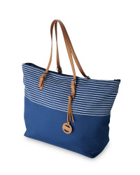 Ladies' Stripe Canvas Travel Bag
