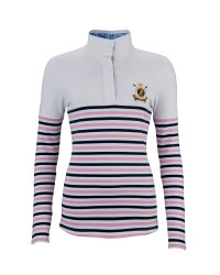 Ladies' Striped Equestrian Sweater