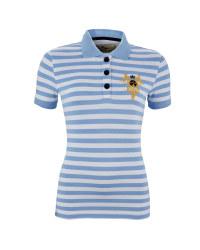 Ladies' Striped Riding Polo Shirt