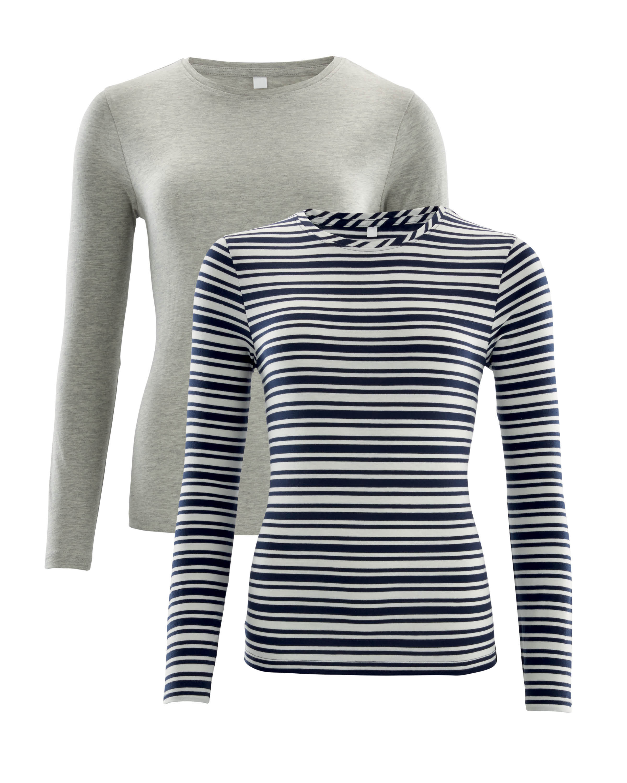 c436c0b1e0 Ladies' Stripes T-Shirt 2-Pack - ALDI UK