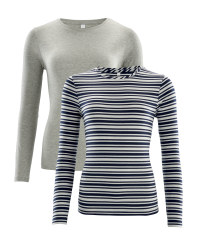 Ladies' Stripes T-Shirt 2-Pack