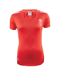 Ladies' Team GB Sports T - Shirt - Red