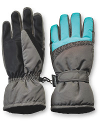 Ladies' Technical Ski Gloves - Black/Turquoise