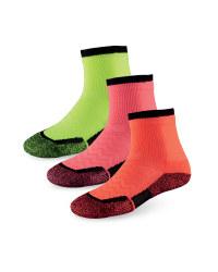 Ladies' Tennis Socks - Neon