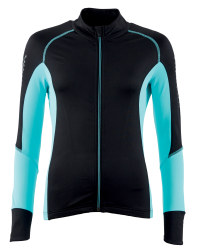Ladies' Turquoise Zip Cycling Jersey
