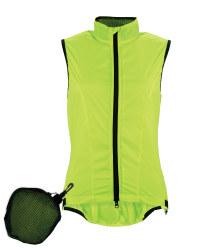 Ladies' Ultra Light Cycling Gilet - Yellow & Black