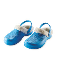 Ladies' Avenue Warm Lined Clogs - Blue/Cream