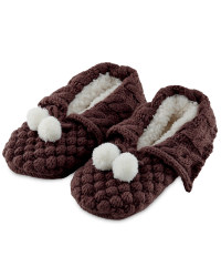 Ladies' Winter Booties - Brown