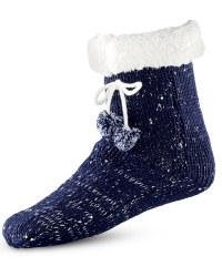Ladies' Winter Slipper Socks - Navy