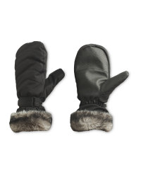 Crane Ladies' Faux Fur Ski Mitts
