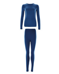 Ladies Ski and Sports Base Layer Set - Blue