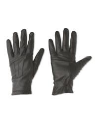 Ladies' 3 Point Leather Gloves - Black