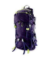 Ladies' 65L Trekking Backpack - Purple / Lime