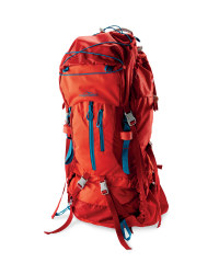 Ladies' 65L Trekking Backpack - Red / Blue