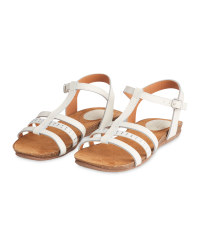 Ladies' Comfort Leather Sandals - White