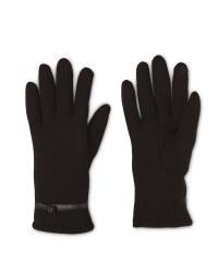 Ladies Black Bow Gloves