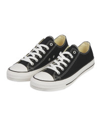 Ladies Black Canvas Trainers