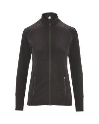 Ladies' Black Merino Sports Midlayer