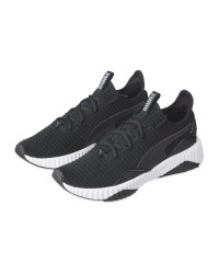 Ladies' Black Puma Defy Luxe Trainer