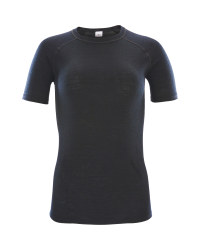 Crane Ladies Black Short Sleeved Top