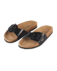 Ladies' Black Single Strap Sandal