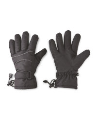 Ladies' Black/White Gloves