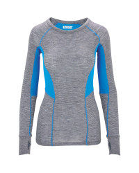 Ladies' Blue Base Layer Top