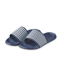 Ladies Blue Sliders
