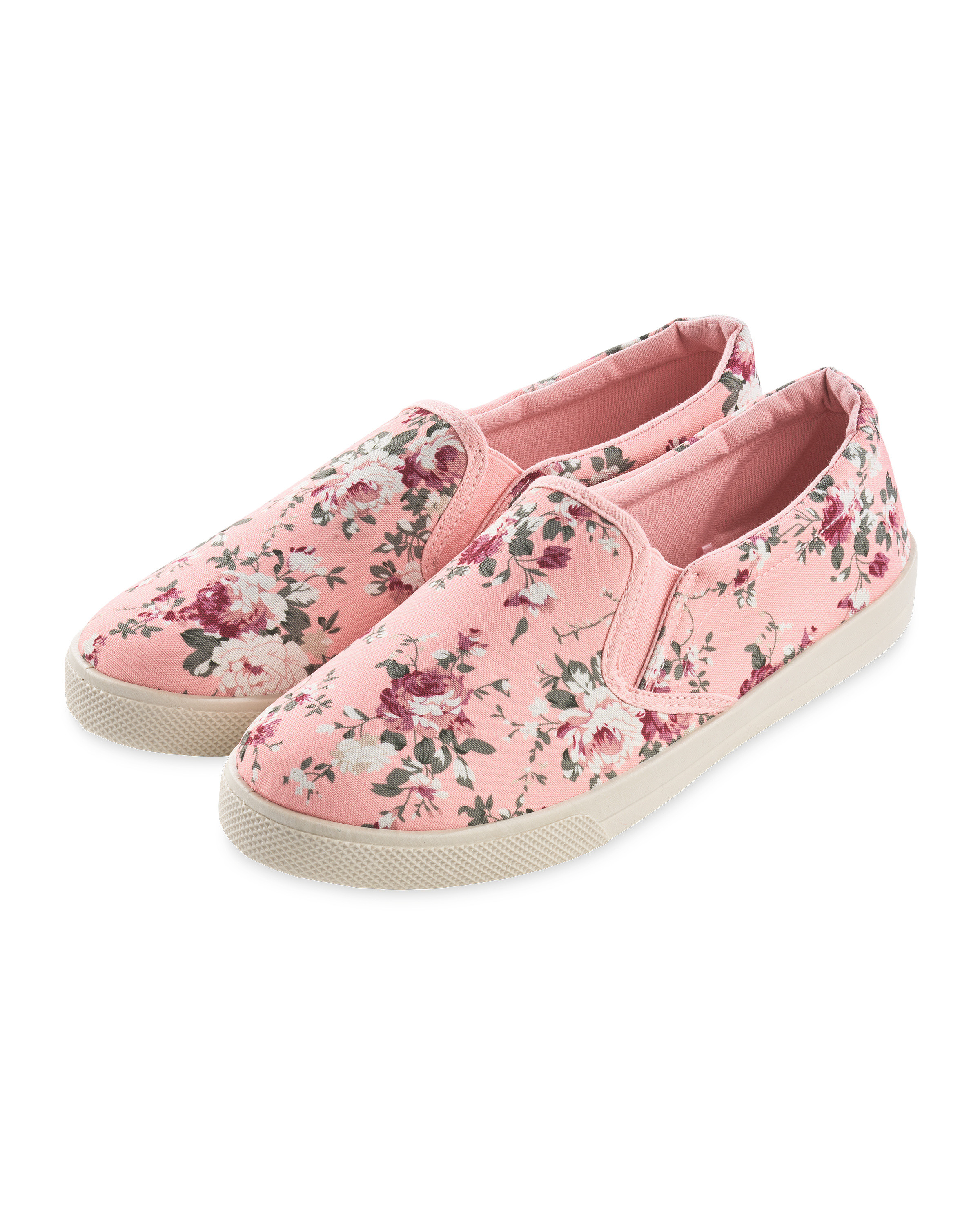 31f4f774aad Ladies Canvas Pump Pink Floral - ALDI UK