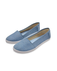 Ladies' Canvas Pumps - Chambray