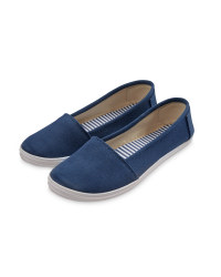 Ladies' Canvas Pumps - Navy