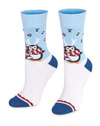 Penguin Christmas Socks