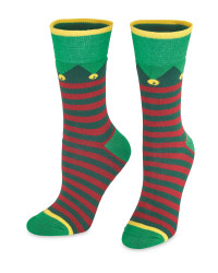 Stripe Christmas Socks