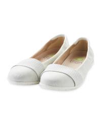 Ladies Comfort Ballerina Light Grey