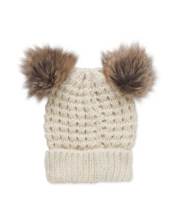 Avenue Ladies Double Pom Pom Beanie