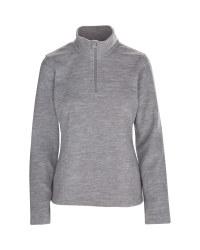 Ladies' Grey 1/4 Zip-Neck Fleece