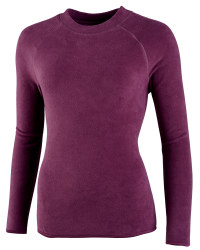 Ladies Fleece Sweater - Plum