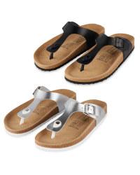 Ladies' Footbed Toepost Sandal