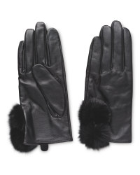 Ladies' Faux Fur Leather Gloves