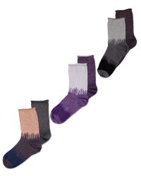 Avenue Ladies' Glitter Socks 2 Pack