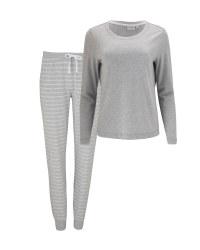 Ladies' Avenue Grey Striped Pyjamas